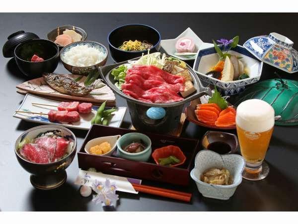 ご好評!!当館自慢の◆飛騨牛づくし御膳◆でございます。