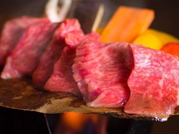 【郷土料理】自慢の飛騨牛朴葉味噌焼き