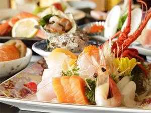 【夕食】お刺身三昧プラン(季節の一例)
