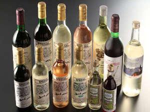 ワインメニュー一例信州産ワインもございます。