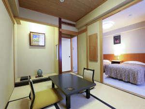 ツインルーム+6帖和室