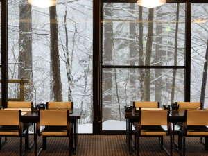 レストランからの雪景色(2020.1.7撮影)