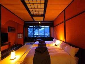 【客室】たっぷりしペースの広縁付 和ベッド客室