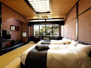 【客室】ゆったりとした広縁付 和ベッド客室