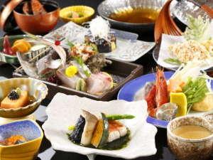 夕凪ご膳イメージ写真:駿河湾の海幸と伊豆の山幸をお楽しみください。