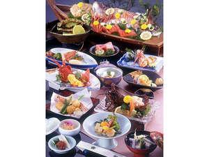 【祝い魚プラン】鮑☆伊勢海老&鯛船盛☆海の幸満載:祝意(喜び祝う気持ち)を込めととのえました♪