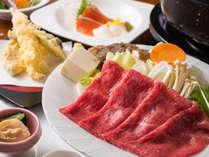 恵比寿御膳のメインは「しゃぶしゃぶ」「すき焼き」からチョイス!季節により内容が変わります