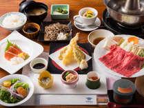 当館一番人気!「恵比寿御膳」は飛騨牛料理をメインにゆっくりお召し上がりいただけます。