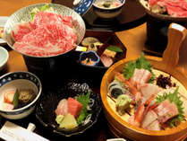 選択料理一例「和会席」+ 2名様毎一桶「刺身盛り」付