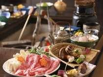 【秋味】飛騨牛しゃぶしゃぶと、松茸三昧を堪能してください(一例)