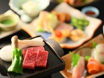 ≪お食事処・基本プラン≫9種類の【選べる主菜料理】を蔵造りのお食事処で。【檜貸切風呂】40分無料特典付