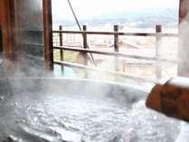 釜風呂からは高山市街が一望できます。