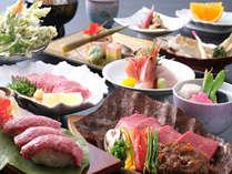 *【特選飛騨牛会席】飛騨牛料理3品と海の幸などが味わえる贅沢会席です