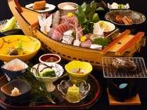お得なプランでも鮑の踊り焼き+伊豆生地金目鯛の煮付はご用意!