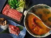 【山海鍋】秋冬の特別会席は、1つの鍋で2つの味を楽しめる山海鍋
