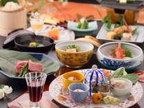【花兆庵基本会席 イメージ】旬の野菜と新鮮な魚介を組み合わせ、季節と技にこだわりご用意いたします