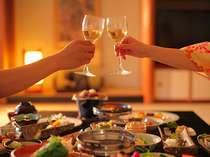 【スイーツデートプラン特典】旅先でカンパイ☆夕食時にスパークリングワイン1本サービス!