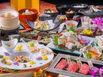 【人気No1・龍リゾート会席】選りすぐりの飛騨牛と金沢朝市直送の旬の鮮魚をご堪能ください