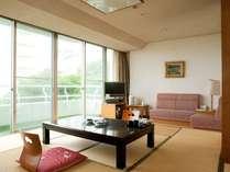 【ガーデンスイート館 一般客室47平米和洋室低階層】和室部分